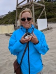 Cyndi rescues a fledgling Common Murre!